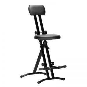 Krzesło dla gitarzysty- CZARNE